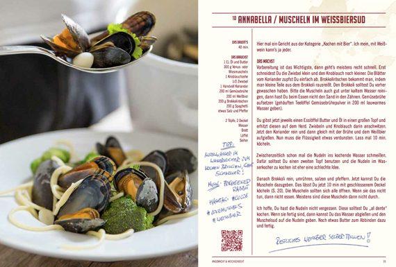 Muscheln im Weißbiersud Rezept Annabella aus dem Kochbuch Angemacht & Weichgekocht First Served