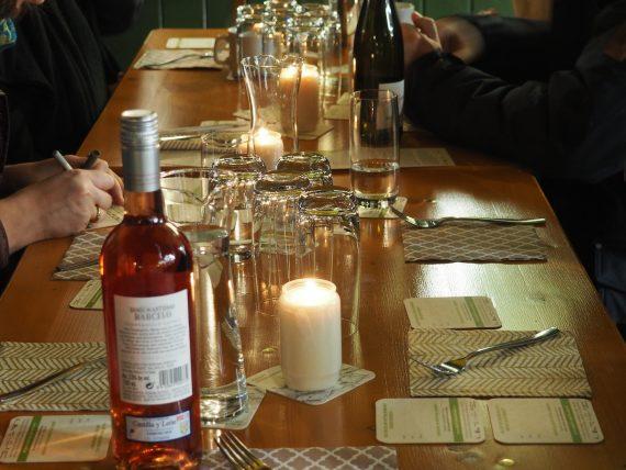 Gedeckter Tisch beim Viktualien.Dinner